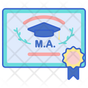 Master Degree Master Of Arts Post Graduation Post Graduate Icon