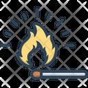 Match Matchstick Fire Icon