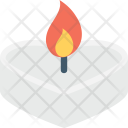 Match Flame Burning Icon