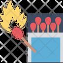 Matchbox Flame Box Burn Stick Icon