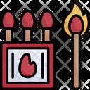 Outdoor Matchbox Match Fire Icon