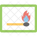 Matchbox Matchbook Matchstick Icon