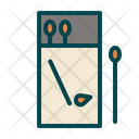 Matches Matchbox Camping Icon