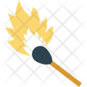 Matchstick Burn Stick Flame Stick Icon