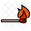 Combustion Matchstick Hot Icon
