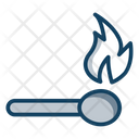 Matchstick Flame Stick Flaming Fire Icon