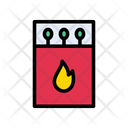Matchstick Flame Fire Icon