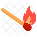 Matchstick Flaming Fire Ablaze Icon