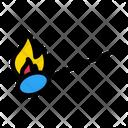 Matchstick Fire Burn Icon