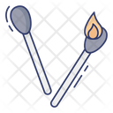 Matchstick Burn Camping Icon