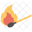 Burning Matchstick Fire Icon