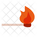 Matchsticks Combustion Hot Icon