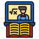 Math Class Online Learning Book Icon