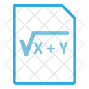 Math File Math Document Math Icon