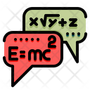 Mathematic Talking Chat Speech Icon