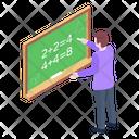 Maths Lecture Mathematics Class Maths Class Icon