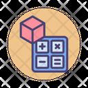 Maths Cube Education Icon