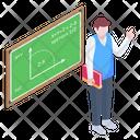 Maths Lecture Mathematics Class Class Teacher Icon