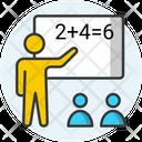 Maths Lecture Maths Class Mathematics Class Icon