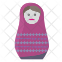 Matreshka Toy Woman Icon