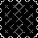 Matrix Binary Bracket Icon