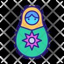 Matryoshka Contour Culture Icon