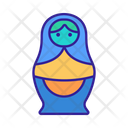 Matryoshka Contour Culture Icon