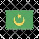 Mauritania Flag Country Icon