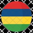 Mauritius Flag Country Icon