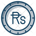 Mauritius Rupee Coin Currency Icon