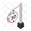 Road Sign Speed Sign Road Symbol Icon