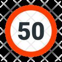 Maximum Speed Limit Icon