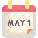 May Labor Day Calendar Icon