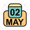 May Calendar Date Icon