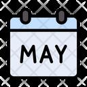 May Calendar Laborday Icon