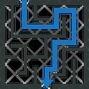 Maze Labyrinth Solution Icon