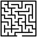 Maze Puzzle Business Challenge Icon