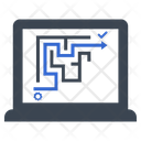Labyrinth Maze Plan Icon