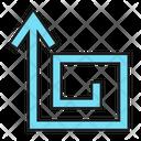 Up Turn Maze Icon