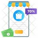 Shopping App Mobile App Online Buying Icon