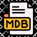 Mdb File Type File Format Icon