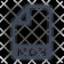 Mdb File Format Icon