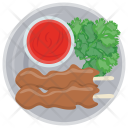 Bacon Skewers Red Icon