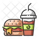 Iburger And Smoothie Meal Burger Icon