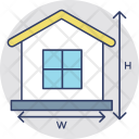Property Measurement House Icon