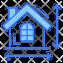 Measurement House Home Icon