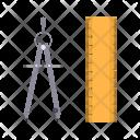 Measurement Ruler Compass Icon