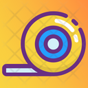 Measuring Tape Inches Tape Scale Tape Icon