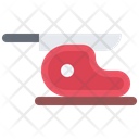 Meat Steak Knife Icon