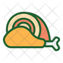Meat Chiken Leg Piece Icon